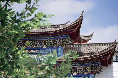 古代建筑房檐图片
