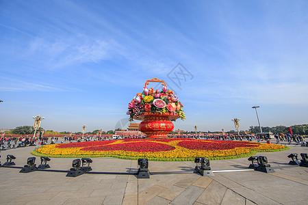 北京天安门广场花篮雕塑图片