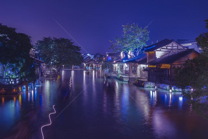 浙江省乌镇夜景图片