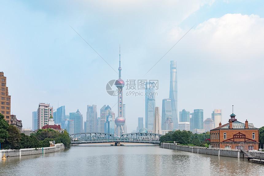 上海外滩苏州河图片