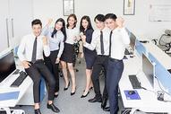 商务团队欢呼狂欢500714761图片