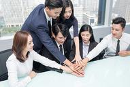 商务团队堆手手势动作图片