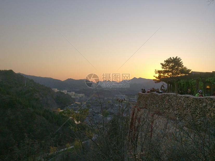 金秋夕阳图片