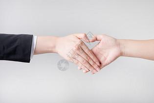 商业合作握手爱心图片