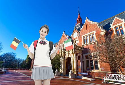 留学的大学生图片
