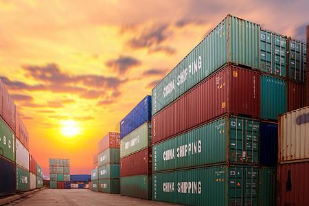 货运港集装箱图片