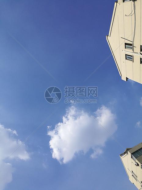 晴朗天气下的蔚蓝天空图片