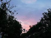 黄昏的夕阳与晚霞图片