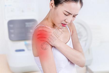 医疗肩膀疼痛图片