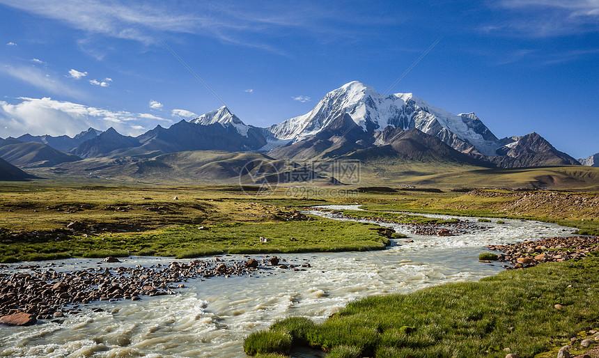 自然风景 西藏高原上蜿蜒的河流与雪山jpg  分享: qq好友 微信朋友圈