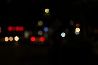 灯火阑珊的街道图片