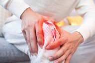 膝盖疼痛图片