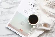 ins风格极简咖啡背景图图片