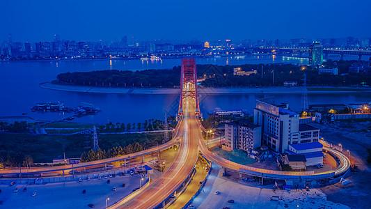 武汉彩虹桥车轨夜景图片