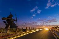 武汉东湖落雁景区后羿射日图图片