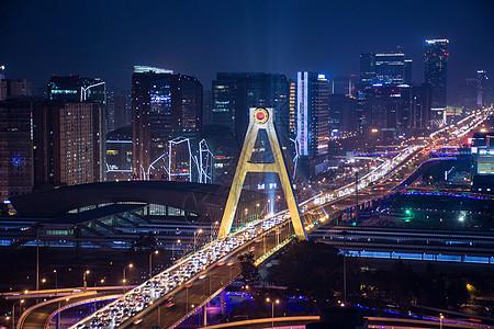 成都繁华都市夜景图片