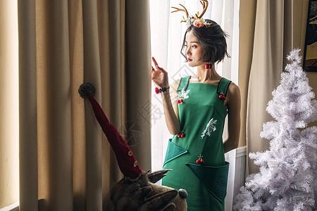 清新圣诞美女套装图片