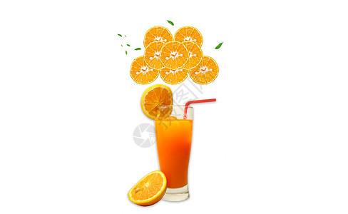 橙汁健康养生图片