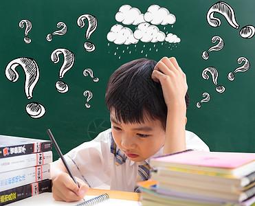 爱思考的小学生图片