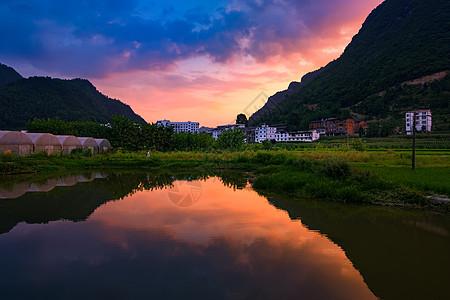 田园夕阳图片