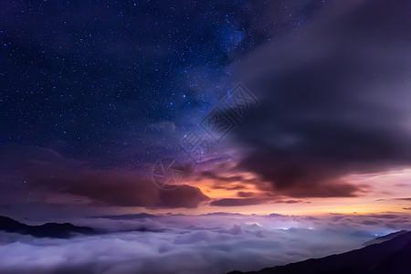 星空下的云海图片