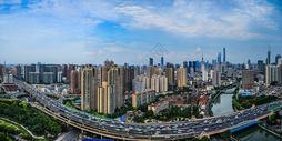 上海城市建筑天际线全景图图片