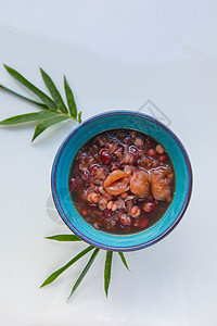 龙眼赤米粥图片
