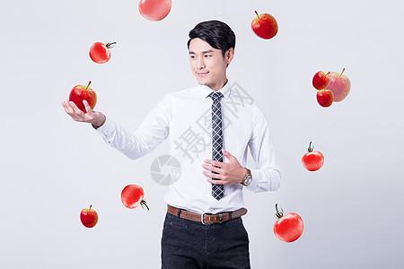 健康生活的商务男性图片