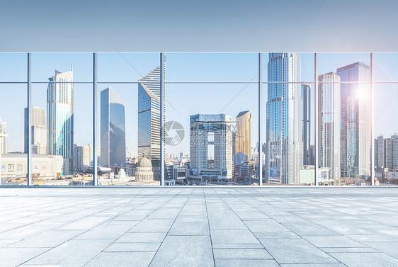 大窗户商务大楼背景图片