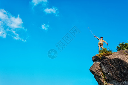 户外蓝天背景图片