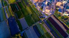 新农村田园航拍图片