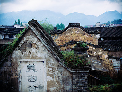 中国古典传统建筑特写图片