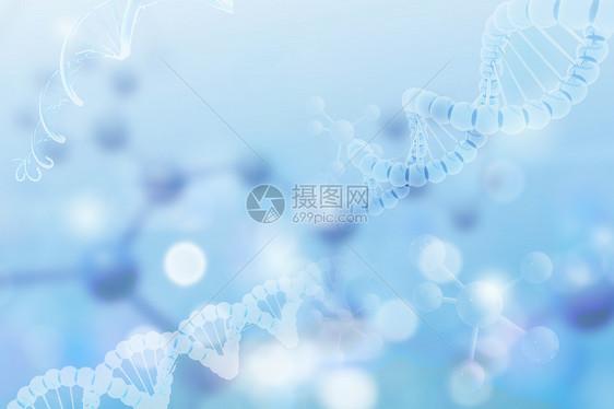 蓝色基因背景图片