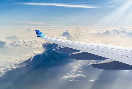 航空运输机机翼图片