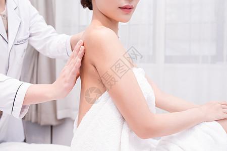 美容美体肩颈舒缓按摩放松图片
