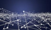 三维抽象科技线条背景图片