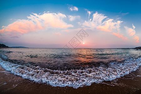 青岛海边的日落图片