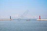 威海刘公岛的灯塔图片