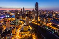天津城市建筑风光夜景图片