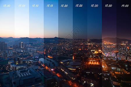 大连夜景时间切片图片