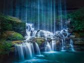 山水瀑布图片