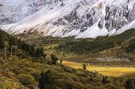 山脉草地交界地带图片