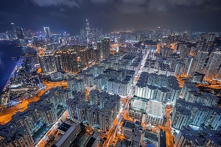 五光十色的香港夜景图片