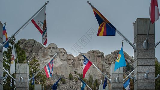美国总统巨石像图片
