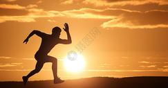 男士跑步动作图片