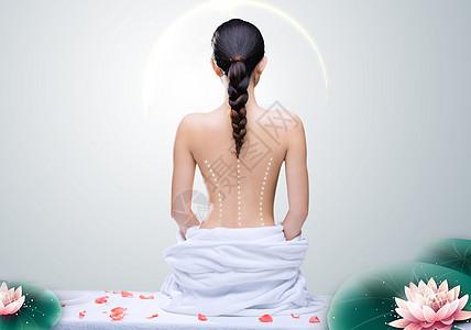 背部按摩养生图片