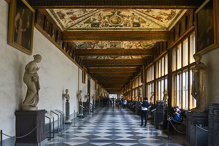 意大利佛罗伦萨世界著名的乌菲兹美术馆图片