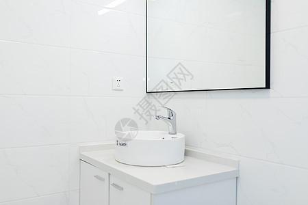 简洁洗手间洗漱台图片