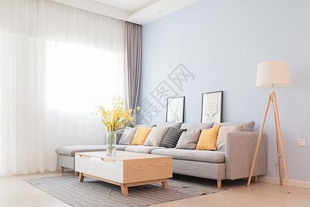 北欧简约风客厅室内设计图片