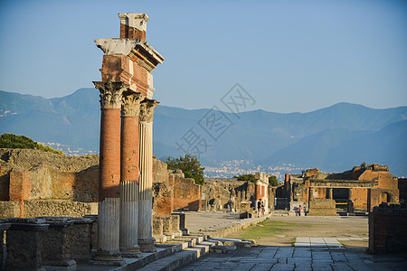 意大利庞贝古城遗址图片